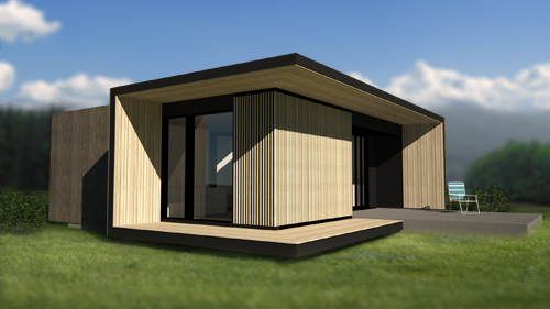 Jetson green flat pack cabins at amnp for Prefab kitchens prestons
